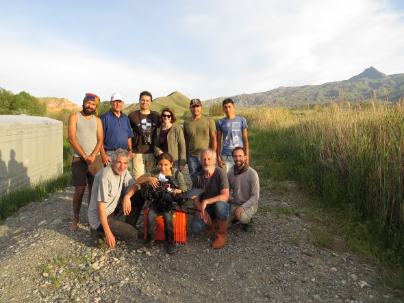 Cagan with his team and the SongbirdSOS crew.