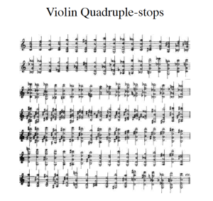 Violin Quadruple-Stops